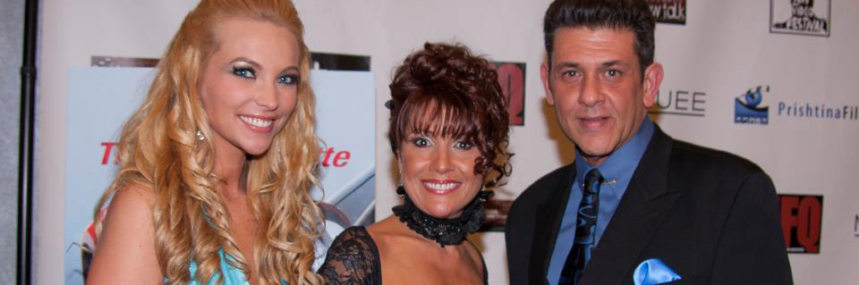 Valerie, Tisha and Frank on the red carpet