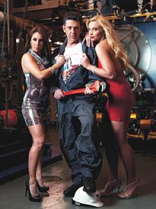 Frank Lisi, photographed here in a boiler room at Rutgers–Newark, is the creator of The Red Corvette, starring Katherine Mesa (left) as Bella Fagone and Valerie Bauer as Cindy Reese. Photography by Benoit Cortet